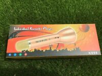 Individual Karaoke Microphone player - Brand New!