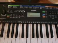 Yamaha Keyboard and stool and headphones