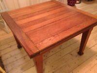 Antique oak extendable dining table