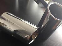 8P0253825 Genuine Pair Of Audi Exhaust Chrome Tips Also Fits VW Tiguan 140Tdi
