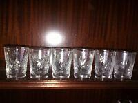 CUT GLASS GLASSES