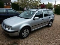VW MK4 Golf TDi Estate .New MOT. Reduced as needs to go as new car arrived