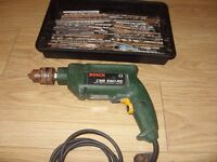 Bosch CSB 550 RE Corded Electric Drill 550W + 100 Assorted Drill Bits - Full Working Order