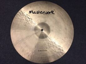 "Masterwork Custom Series 22"" Extra Thin Ride Cymbal - MINT Condition"