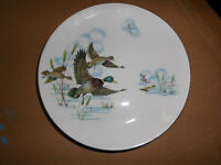 3 side plates with the 'mallards in flight' design