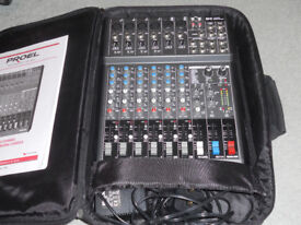 Proel M.8USB mixing desk with case.