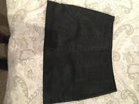 Zara leather patterned skirt MEDIUM