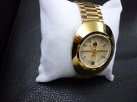 beautiful men's rado diastar day/date automatic scratchproof watch,excellent condition..