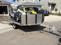 2 sled drive on / drive off trailer