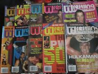 WRESTLING MAGAZINES X 10 PRO WRESTLING ILLUSTRATED FROM 1994 more magazine for sale