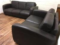 Quality leather sofas (free delivery)