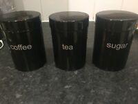 Tea, Coffee & Sugar Canisters