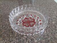Lovely Heavy Glass Fruit Bowl