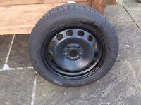 VW Touran/Passat full size steel wheel and tyre