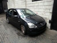 HONDA CIVIC 1.6 PETROL 5DR BREAKING 03-04-05 FOR SPARES 1X WHEEL NUT