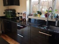 Kitchen cabinets and granit worktop