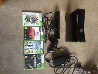 Xbox 360 250 GB with Kinect & 4 games