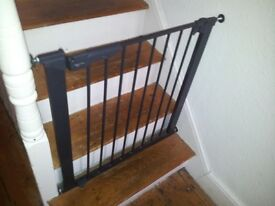 Stair gates x 2, black, brand BabyDan