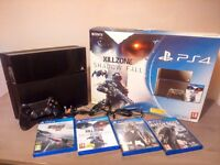 Sony PS4 with games leads controller and box for sale