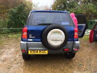 Toyota RAV4 vvi 1800, in bright blue, lovely car, very reliable, family forces sale