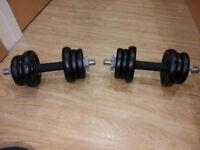 York Fitness Cast Iron Dumbbell Set - Black, 20 Kg