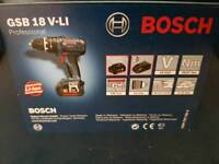 18v combi drill with x2 3.0 amp batteries