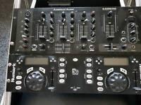Dj mixer twin cd amp all built in to flight box