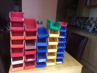 Plastic garage storage containers
