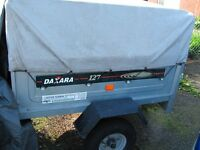 Daxara 127 Trailer with hitch lock