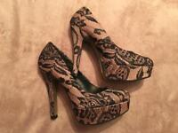 Dorothy Perkins size 5. Stiletto high heels. Lace