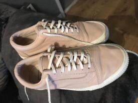 Light Pink (nude) leather vans