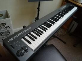 M-Audio Keystation 88 Digital keyboard controller and Miditech Paino box