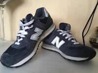 Navy New Balance trainers size 6