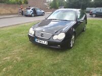 04 reg Mercedes Benz c class diesel coupe automatic drives well quick sale