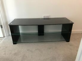 Black & Clear glass TV unit - from barker & stonehouse