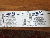 2 x tickets for Saw Doctors O2 Apollo Manchester Sat 29 April