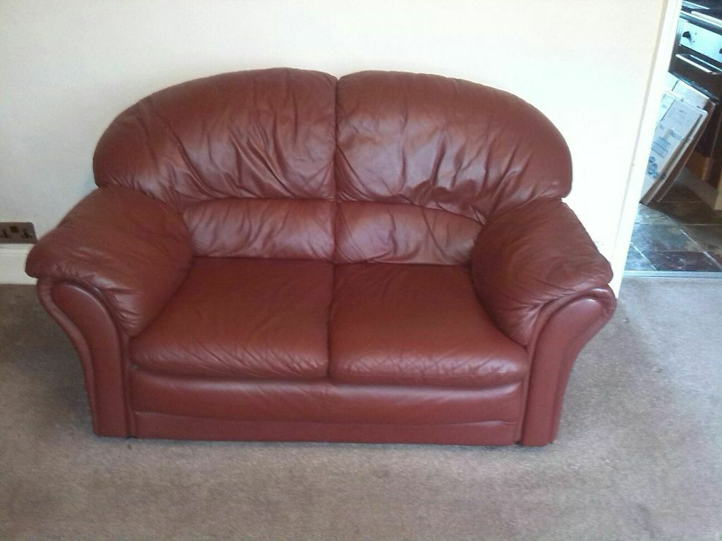 Leather 2 Seater Settee In Whitworth Manchester Gumtree