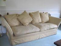 Cream Laura Ashley knowle treble sofa