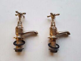 Victorian style brass taps