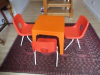 Toddler table and 3 chairs