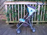 Century Stroller - Blue and Grey