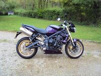 62 plate Purple Street Triple. As New. One Owner 1100 miles. PX Considered.
