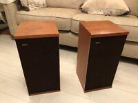 B&W DM4 Loudspeakers in teak cabinets