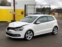 2011 VOLKSWAGEN POLO GTI 1.4 AUTOMATIC DSG WHITE DAMAGED SALVAGE REPAIRABLE