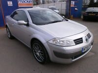 2005 RENAULT MEGANE1.9 DCI DIESEL CONVERTIBLE DYNAMIQUE SERVICE HISTORY, CLEAN CAR, DRIVES VERY NICE