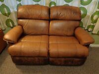 Lazy Boy 2-Seater Leather Recliner Sofa