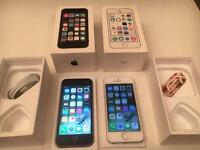 iPhone 5s 16gb factory unlocked boxed £160 each silver SPACE grey