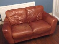 PAIR OF LEATHER SOFA'S