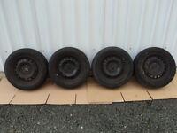 """VW Golf MK5 15"""" Steel Wheels MICHELIN 195/65 R15 Tyres 3.5mm MK6 MK7 CADDY SEAT LEON FULL SET OF 4"""