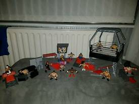 Wrestling Rumblers with ring and lots of accessories